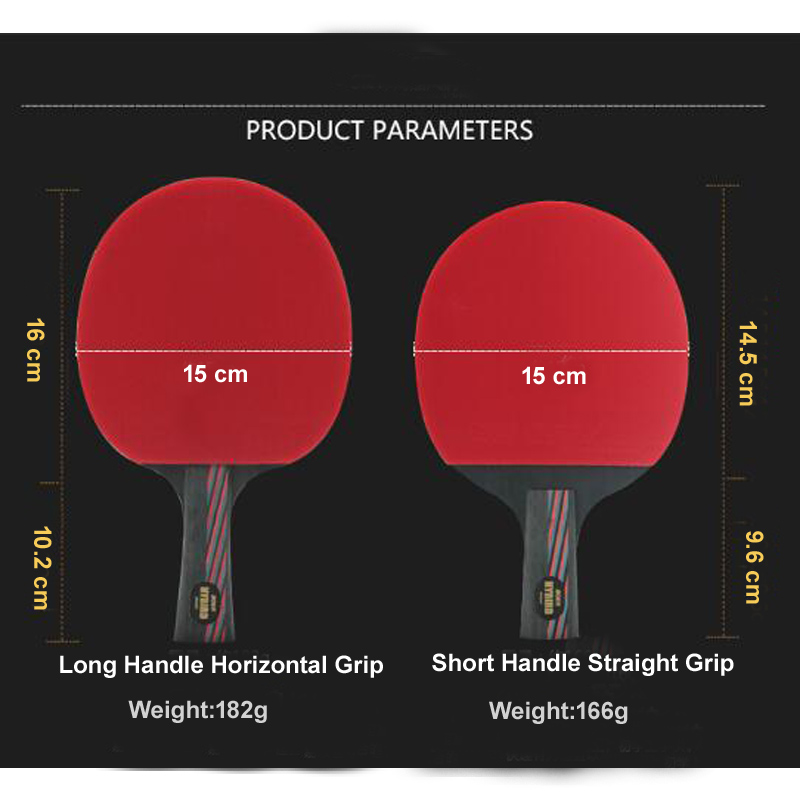 hot handmade 9 8 brand table tennis racket double pimples in bat