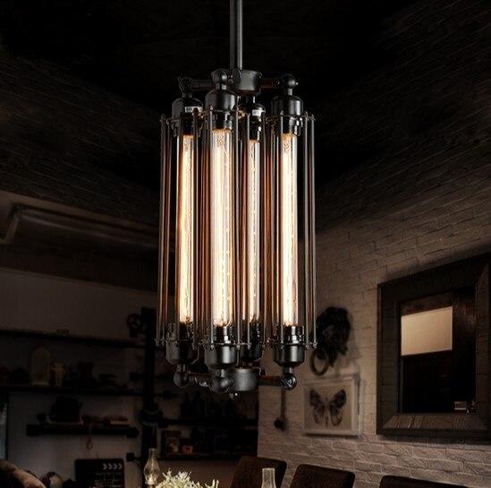 American Loft Style Iron Art Droplight Edison Pendant Light Fixtures