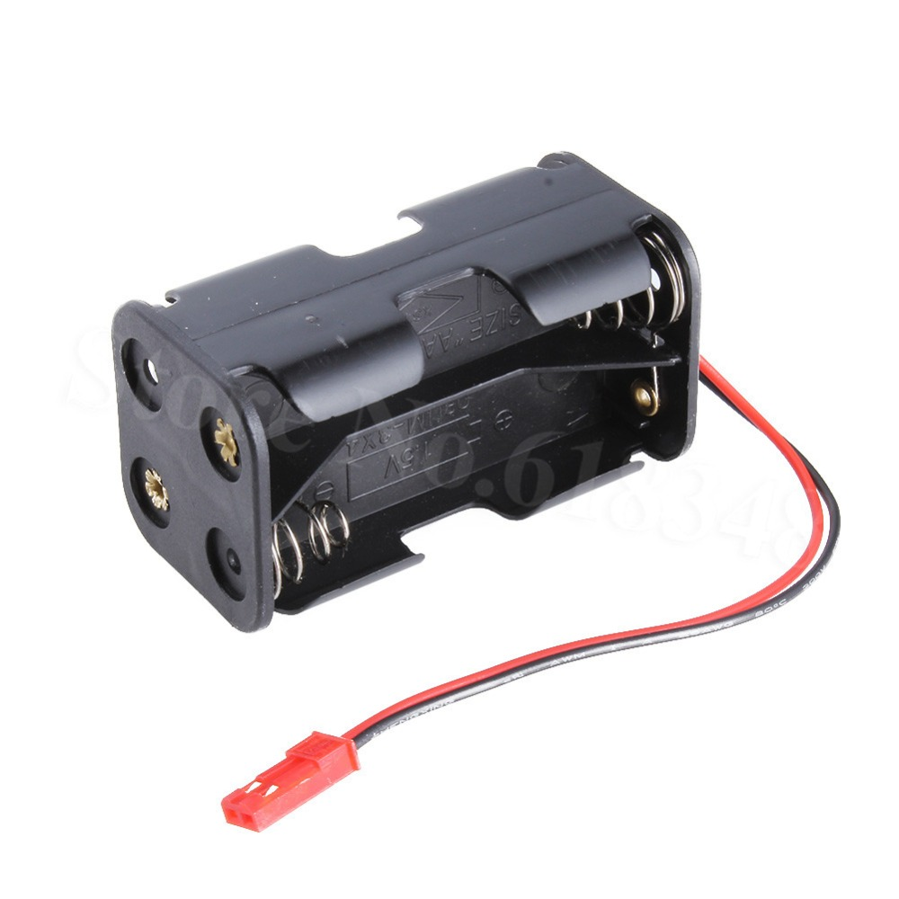 HSP 02070 4 AA <font><b>Battery</b></font> Container Holder Case <font><b>JST</b></font> Plug for RC 1/10 1/8 Nitro Power Remote Control Car Parts Replacement