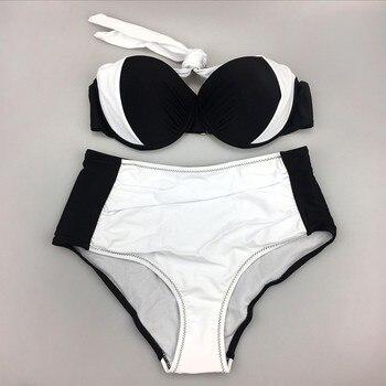 Blesskiss 2020 High Waist Bikini Push Up Swimsuit Women Swimwear Plus Size Sexy Brazilian Bathing Suits Swimming Suit For Women 6