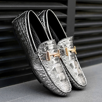 Fires Men Artificial Leather Loafers Mens Comfortable Moccasin Shoes Casual For Driving Shoes Soft Lightweight Driving Shoes
