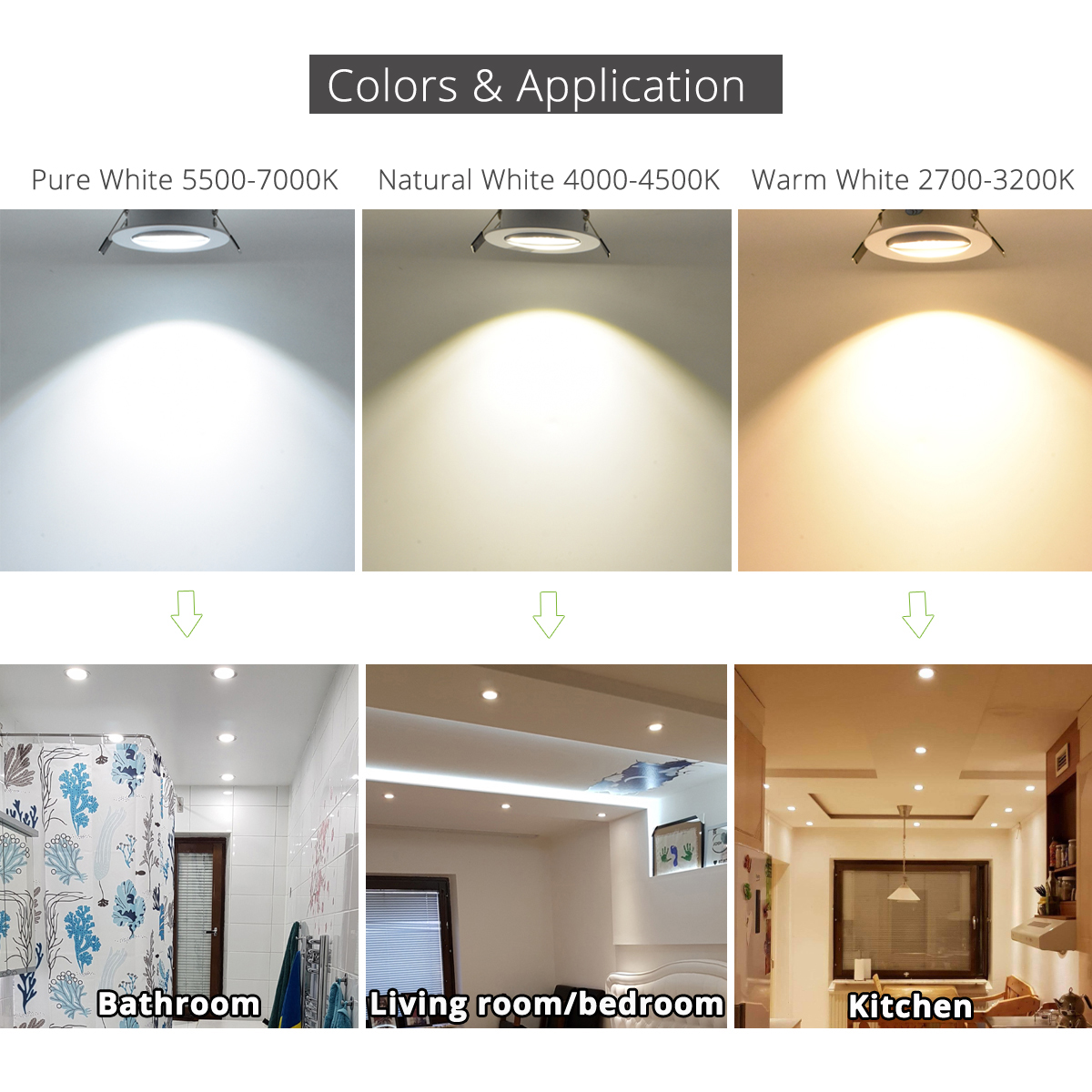 4 pcs / lot 3 W 4 W 5 W 7 W downlight Epistar LED plafonnier - Éclairage intérieur - Photo 6