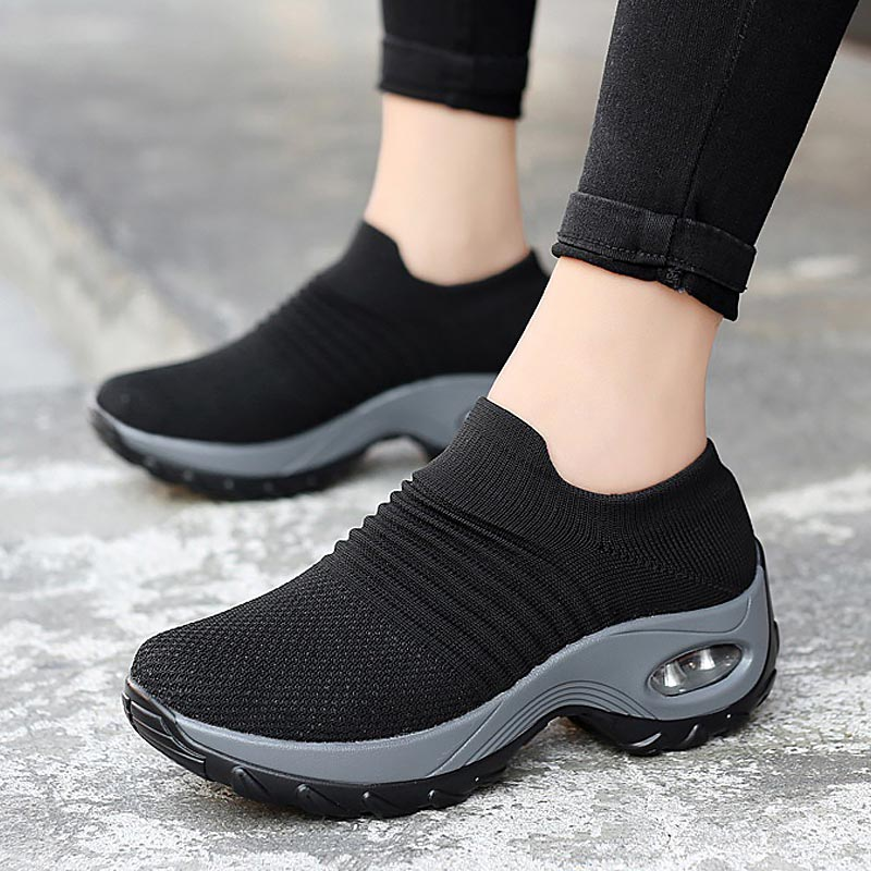 Ladies shoes flats 2019 new fashion breathable mesh sneakers women shoes slip-on comfortable sports casual shoes woman flats