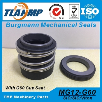 MG12-85 (MG12/85-G60) Burgmann Mechanical Seals for Water Pumps with G60 stationary seat-(Material:SIC/SIC/VIT)