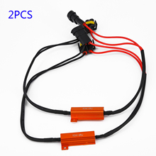 H8 H11 LED DRL Fog Light Canbus Error Free 50W Load Resistor Decoders Cancellers For LED