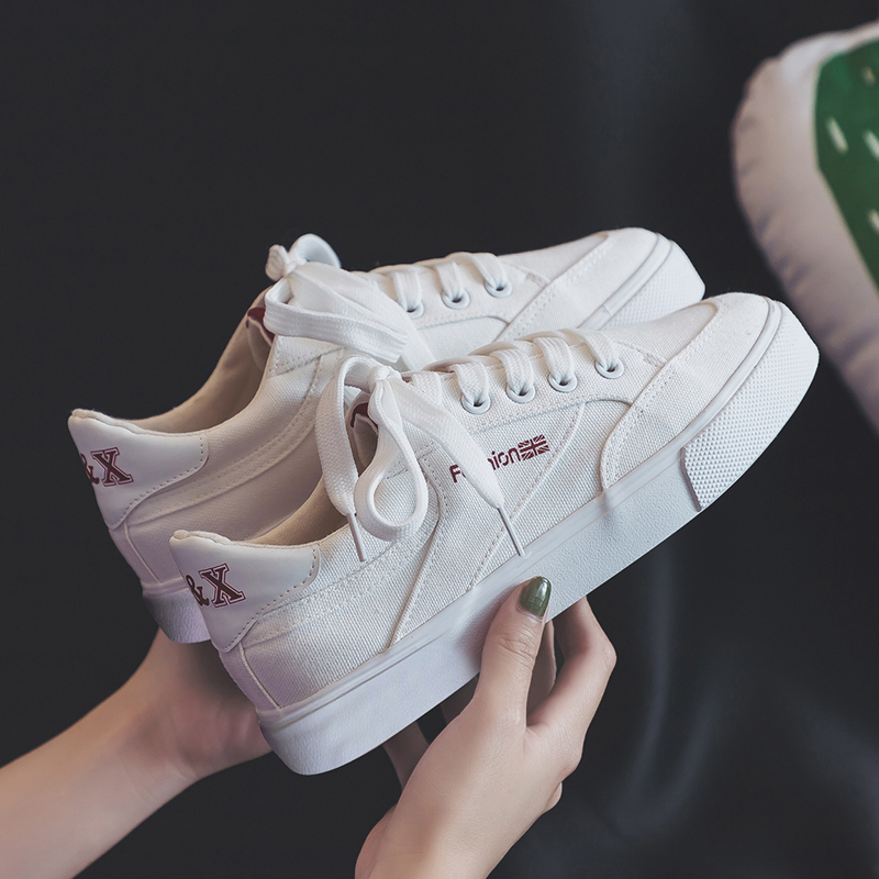 Fashion Style Women Canvas Vulcanized Shoes Simple Design Anti-Skid Sneakers for Female Comfortable Wear Resistant Casual Shoes 3