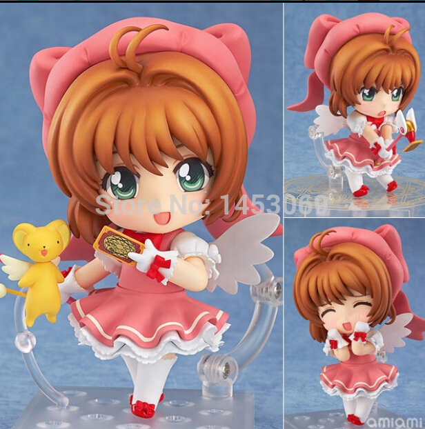 Cardcaptor Sakura #400 Cute Nendoroid  PVC Action Figure Collection Model Toy 4 10CM nendoroid anime sword art online ii sao asada shino q version pvc action figure collection model toy christmas gifts 10cm