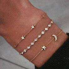 Fashion Boho Bracelet 3pcs/lot Bracelets For Women Alloy Pulseras Mujer Pulseira Bangle Femme Pulsera Bransoletki Gift