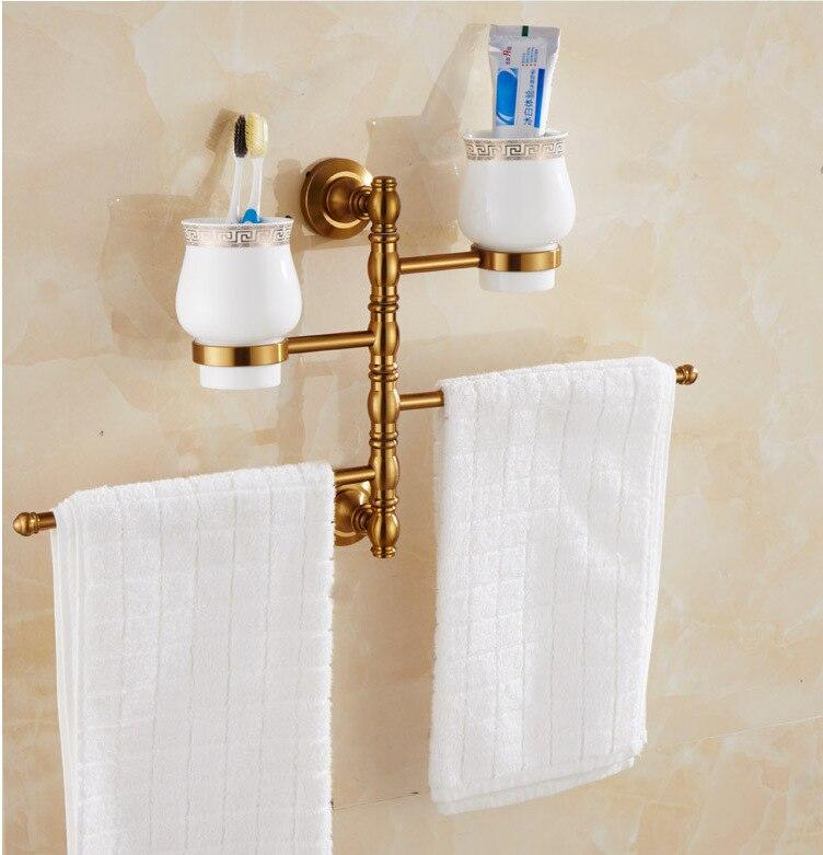 ФОТО Wall-Mounted Aluminum Swing Out Bathroom Towel Bar Rack Hanger Holder Organizer Storage ( 3-Arm 4-Arm)  660016