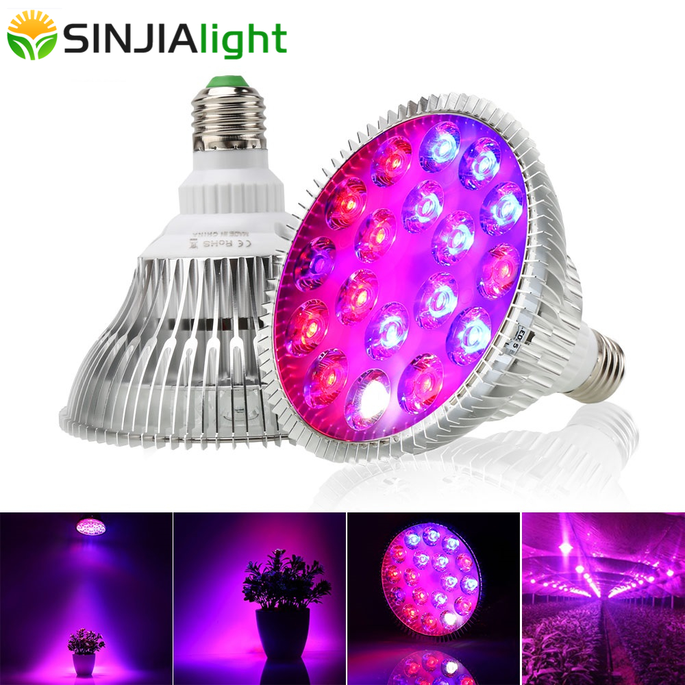 54W Full Spectrum LED Grow Light Plant Growth Led Lamp Bulb For Hydroponics Indoor Plants Phytolamp Grow Box Flower Lighting