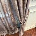Высококачественные бархатные Позолоченные шторы для гостиной столовой светонепроницаемые шторы для спальни жаккардовые вышитые роскошны...