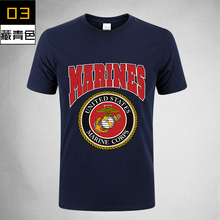 2017 USA Armed ARMY Forces Gear Printed Men's Marine Corps Basic 100% Cotton Military Tshirt For Men USA Air force short hunting united states military armed forces full size ribbon us merchant marine expeditionary