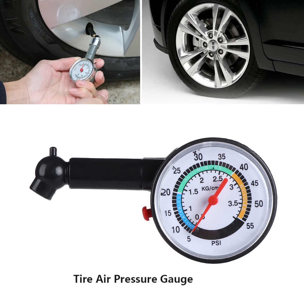 1 Pcs Professional Tire Air Pressure Gauge for All Cars Bike Motorcycle Universal Car Tire Dial Meter Repair  Tool