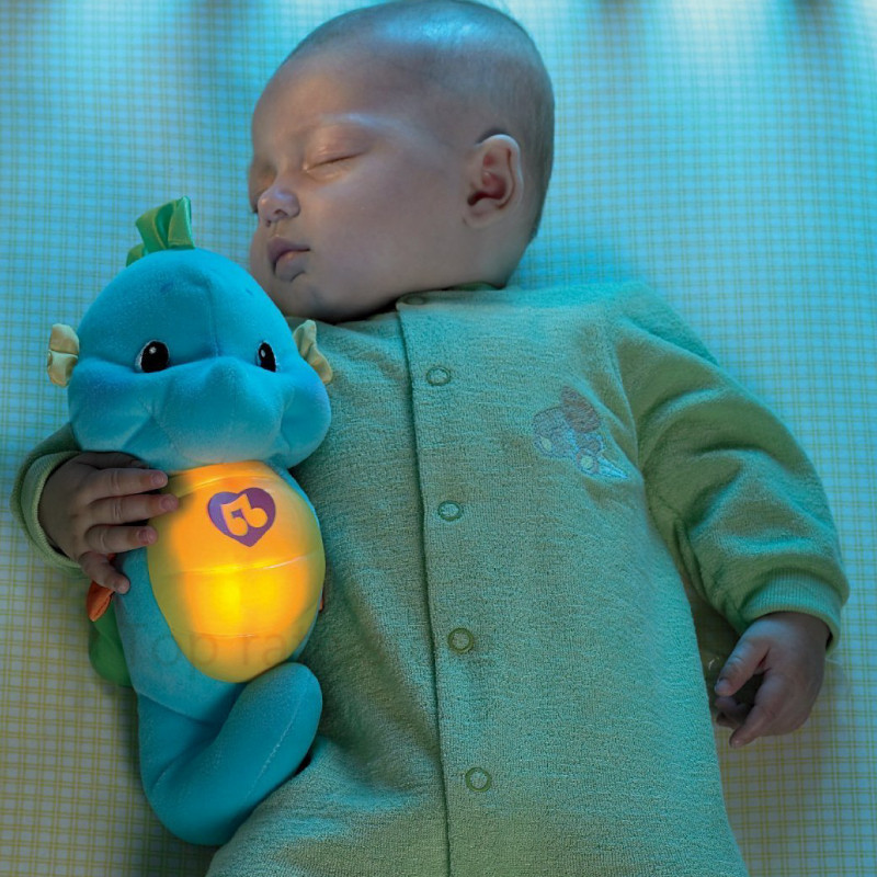 Kawaii Hippocampus Plush Doll Seahorse Musical Sound Toys Child Sleep Lamp baby appease Nightlight Enlightenment Toys fisher price soothe & glow seahorse