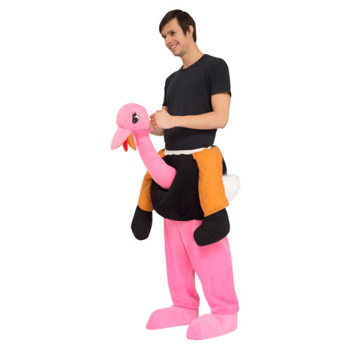 Autruche Piggy Back Tour Sur Me Mascotte Hommes Fantaisie Robe L'animal Effectuer Costume pour Adulte Enfants Halloween Pourim Carnaval partie événement