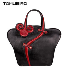 TOMUBIRD superior cowhide leather Designer  famous brand women bag fashion National wind Tote genuine leather bag