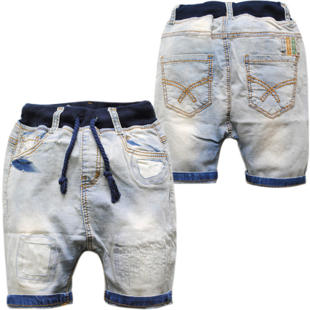 cd7849392c 3644 boys girls babies shorts kids jeans casual pants summer capris shorts  children's clothing denim trousers solid-in Shorts from Mother & Kids