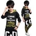 Conjuntos de Roupas crianças Para Meninos Camuflagem Ternos Esportivos Outono Crianças Fatos de Treino Meninos adolescentes Sportswear 4 6 8 10 12 14 16 Anos