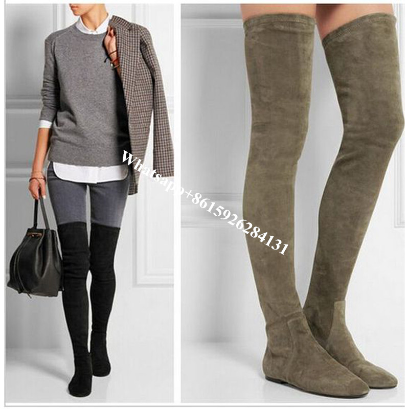 Thigh High Flat Boots Promotion-Shop for Promotional Thigh High ...