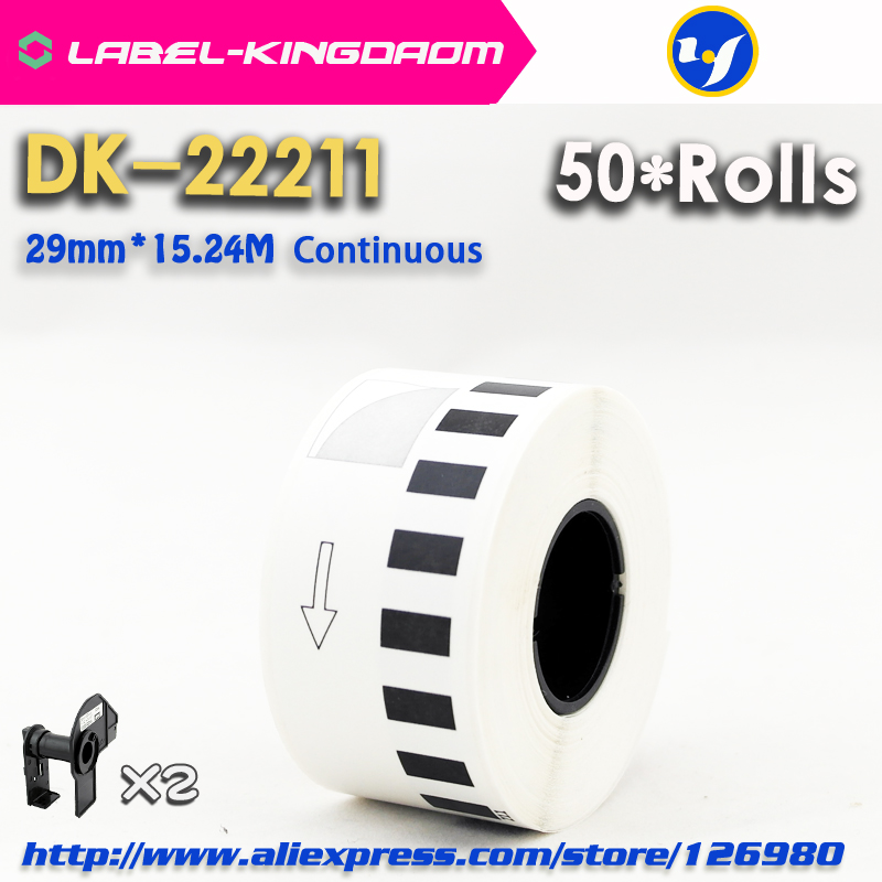 50 Refill Rolls Compatible DK 22211 Label 29mm 15 24M Continuous Compatible for Brother Label Printer