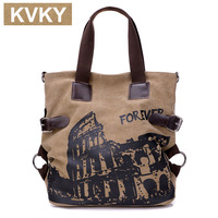 Hot Designer Women Canvas Handbag High Quality Canvas Tote Bag Female Large Capacity Leather Handbag Shoulder