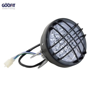 Goofit 12 v motocicleta led farol luz dianteira para 50cc 70cc 90cc 110cc 125cc 150cc scooter ciclomotor quad atv A012 639|light threshold -