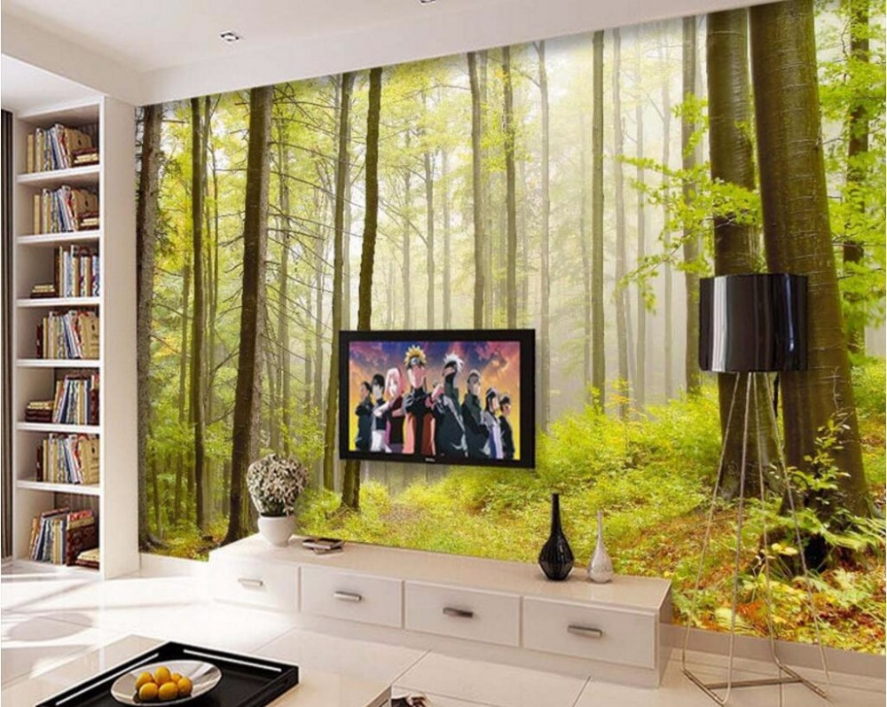 Custom mural picture 3d room wallpaper nature forest landscape custom mural picture 3d room wallpaper nature forest landscape decoration painting 3d wall murals wallpaper for walls 3 d in wallpapers from home amipublicfo Choice Image