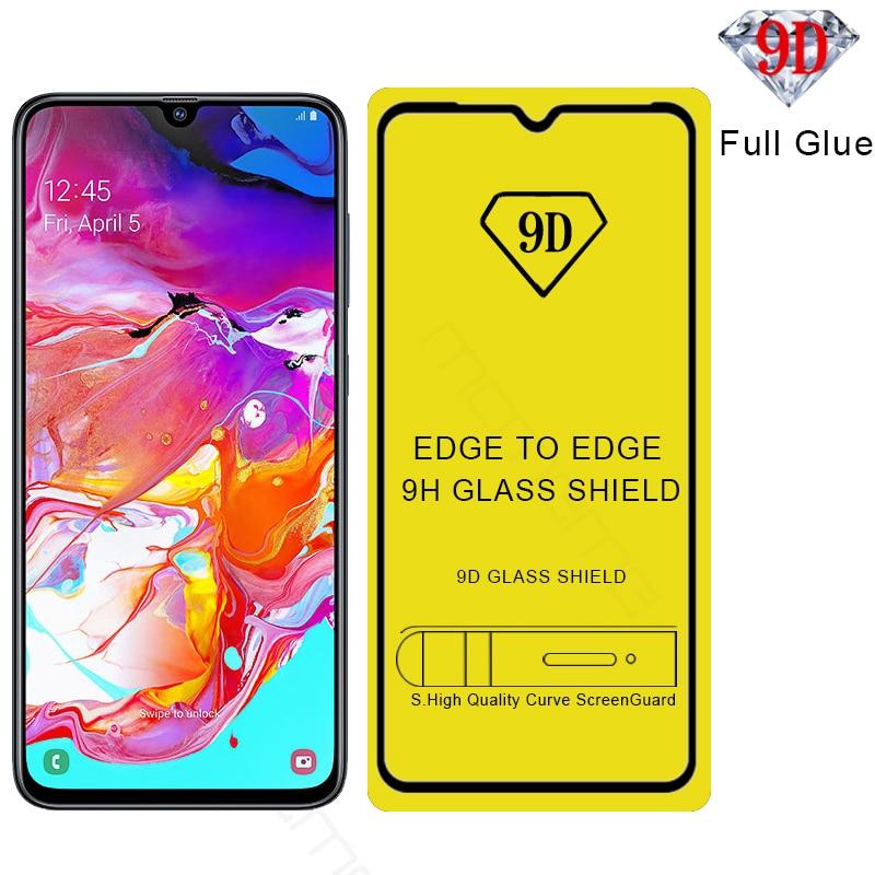 100Pcs lot 9D Full Glue Tempered Glass For Samsung Galaxy A20 A40 A70 A30 A50 A10