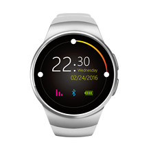 Fashion Round Smart Watches New KW18 Heart Rate Monitor Smartwatch Sim Bluetooth Watch Wearable Devices for Android ISO Apple