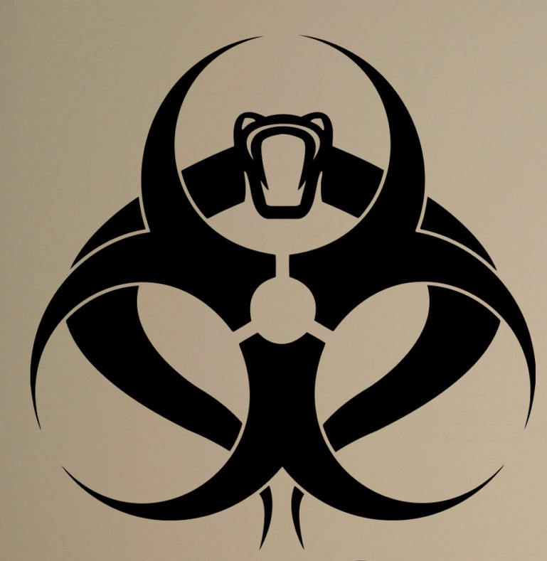 Biohazard Skull Wall Sticker Biological Hazards Vinyl Decal Cool Home Interior Bedroom Decor Art Murals Housewares
