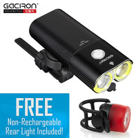GACIRON Professional 1600 Lumens Bicycle Light Power Bank Waterproof USB Rechargeable Bike Light Flashlight Free W05