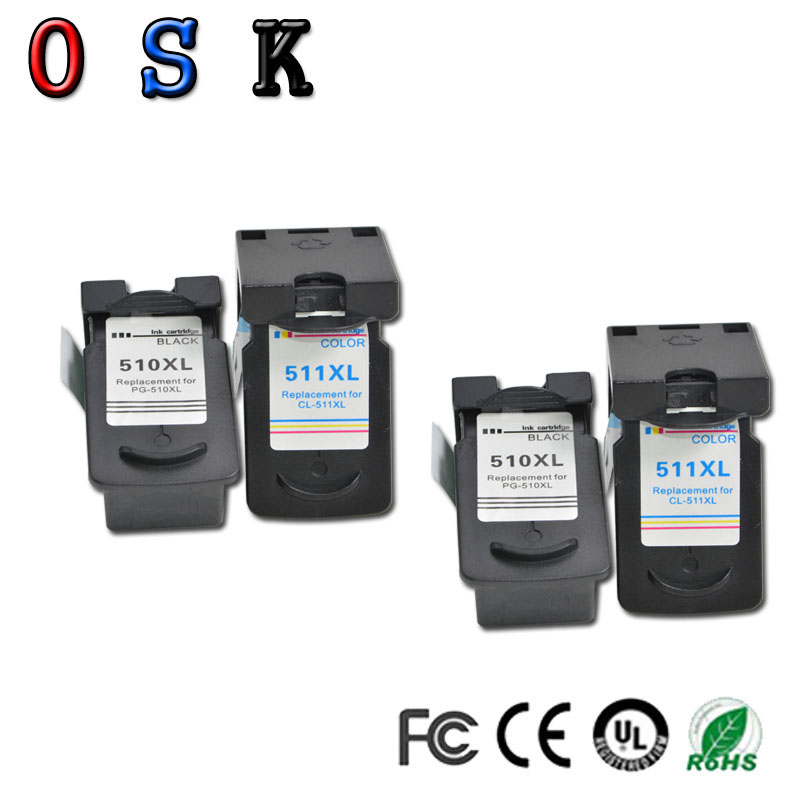 OSK Compatible PG510 PG-510 CL511 <font><b>Ink</b></font> <font><b>Cartridge</b></font> for <font><b>Canon</b></font> PG 510 CL 511 for MP280 MP480 MP490 MP240 MP250 <font><b>MP260</b></font> MP270 IP2700 image