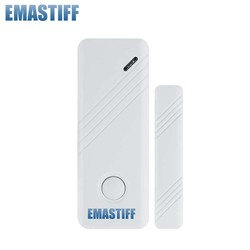 Free Shipping!NEW switch Wireless 433mhz Door Window Gap Sensor With SOS emergency button For Our GSM PSTN Alarm System