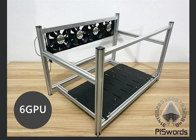 Штабелируемый алюминиевый чехол для майнинга открытым воздухом чехол для майнинга Рамка для 6/8/12 GPU Bitcon Биткоин Litecoin комплект несобранный эфириум 2