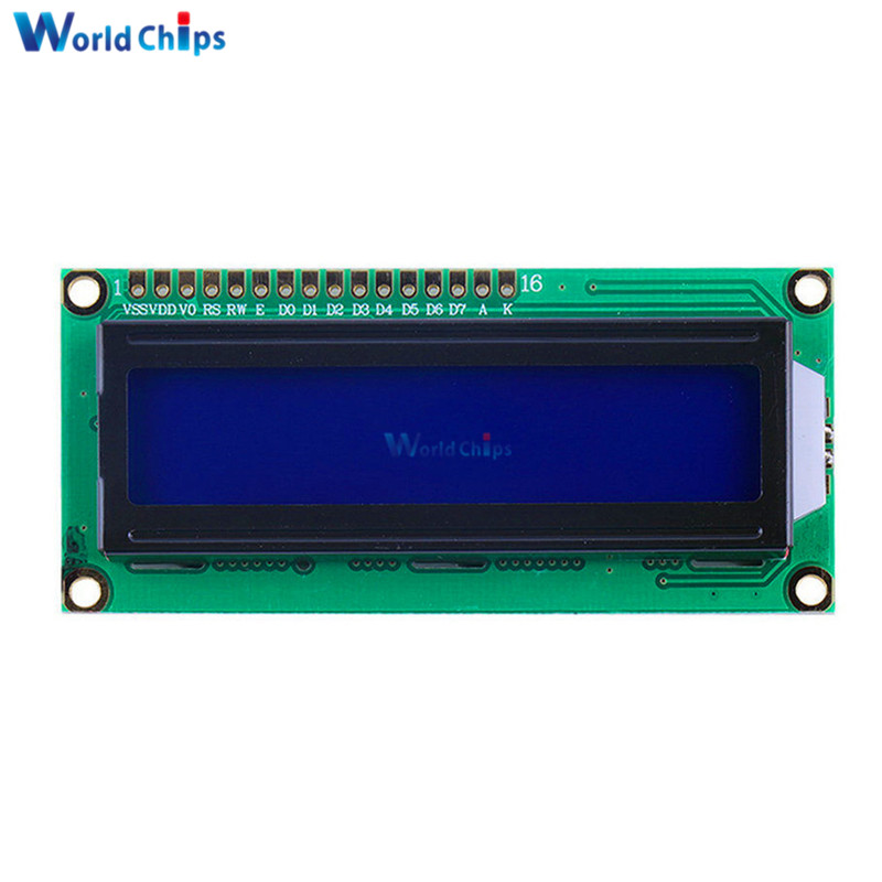 LCD1602 1602 Monitor Blue Screen Character LCD Display Blue/Yellow Blacklight TFT 16X2 LCD Module DC 5V White Code For Arduino