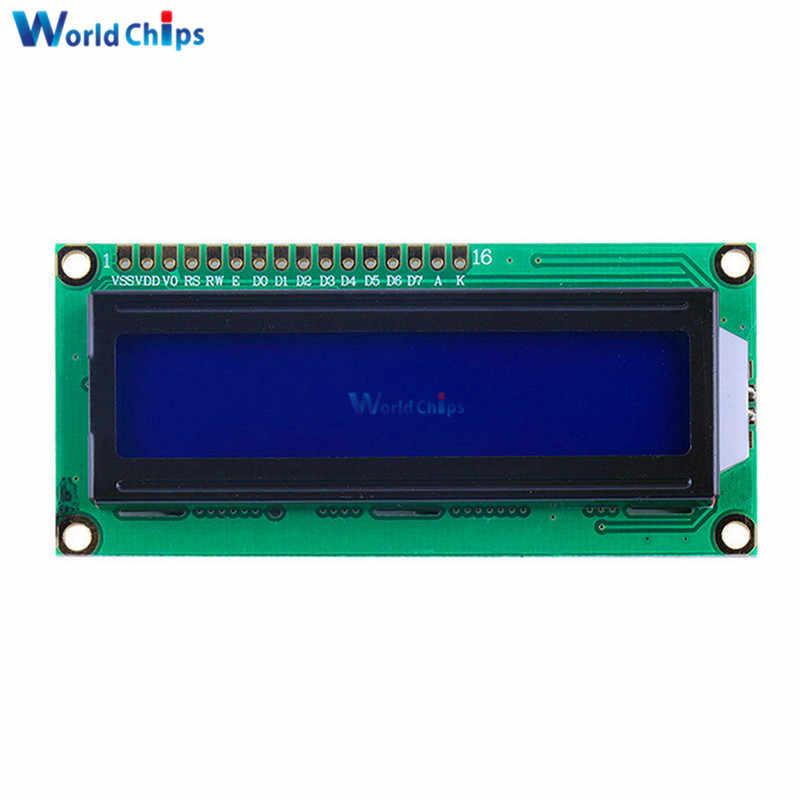 LCD1602 1602 monitör mavi ekran karakter LCD ekran mavi/sarı Blacklight TFT 16X2 LCD modülü DC 5V arduino için beyaz kodu