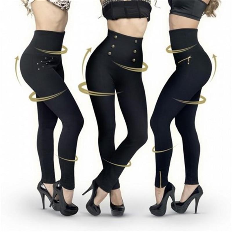 High Waist Super Elastic Women Spring Summer Slim Pants Bodycon Pencil Pants Ankle Length Skinny Leggings Trousers 3pcs/lot