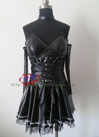 Hot Anime DEATH NOTE Amane Misa Cosplay Party Lolita Black Dress Full Set Free Shipping NEW