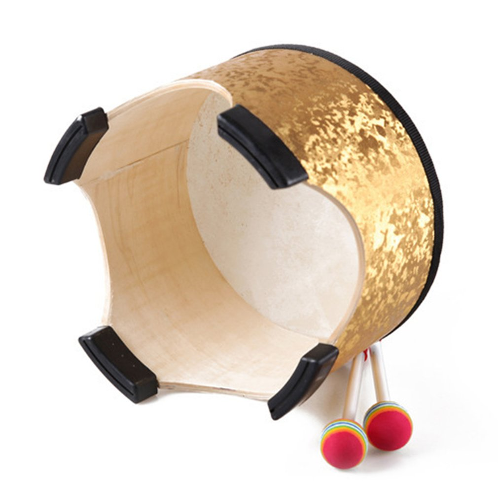 Orffworld 40CM Golden Drum Wood Kids Early Educational Musical Instrument Percussion Instrument For Children Performance