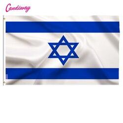 Flaga izraela 3*5 stóp. Poliester flag.90 * 150cm duże banery izraelska flaga  sztandar flagi Isreal w Flagi  banery i akcesoria od Dom i ogród na