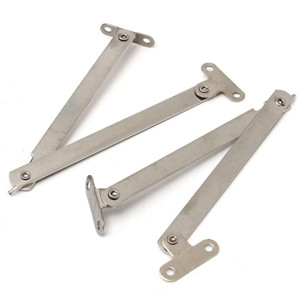 100% Quality 2pcs Stainless Steel Cabinet Cupboard Furniture Doors Close Lift Up Stay Support Hinge Kitchen Long Service Life