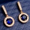 Yunkingdom Люксовый Бренд Оптовая Новый Ювелирные Изделия Позолоченные 7 Цветов Кубического Циркония Brincos Серьги для женщин