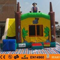 Коммерческий 5*4 м Пиратский корабль надувной батут для прыжков замок с горкой в Китае (стандарты CE, воздуходувка