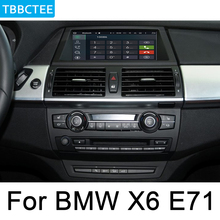 цены For BMW X6 E71 2011-2013 CIC Car Android Multimedia System 1080P IPS LCD Screen Radio Player GPS Navigation BT WiFi AUX HD