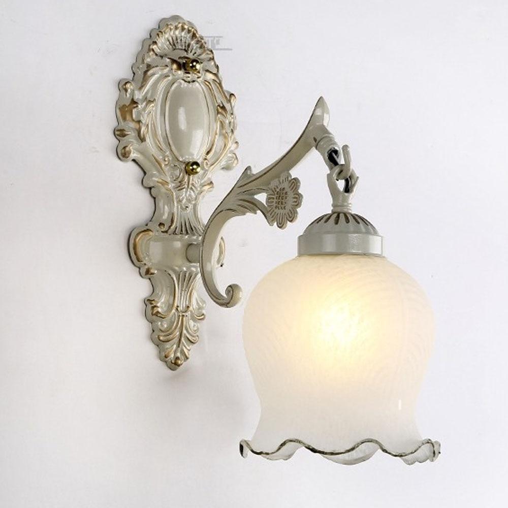 LED Wall Lamp Vintage Single Head White Gold / Bronze / Beige 110V-220V E27 Courtyard Hotel Indoor Lighting Modern Wall Sconce nervilamp 710 2a gold bronze