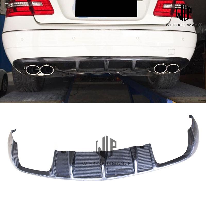 W207 Carben Fiber Rear Lip Diffuser Car Styling For Mercedes-Benz E Class E200 E250 E300 E350 Couple Car Body Kit 2010-UP