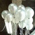 Высококачественный 10 шт./лот 10 дюймов 1,5 г Серебряный латексный шар воздушные шары надувные для украшения свадьбы дня рождения вечевечерние...