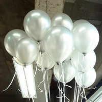 Globo de látex plateado de 10 pulgadas y 1,5g de alta calidad, 10 unidades por lote, globo inflable para boda, fiesta de cumpleaños, decoración