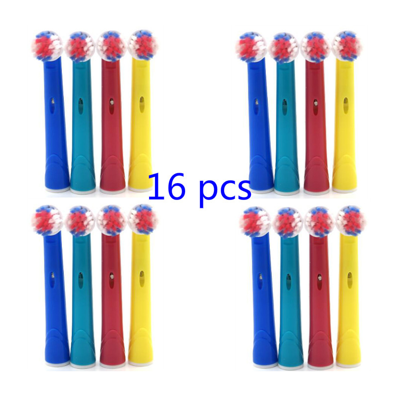 16pcs WholeSale Colorful Children Electric ToothBrush Replacement Heads For Oral B Wholesale wholesale