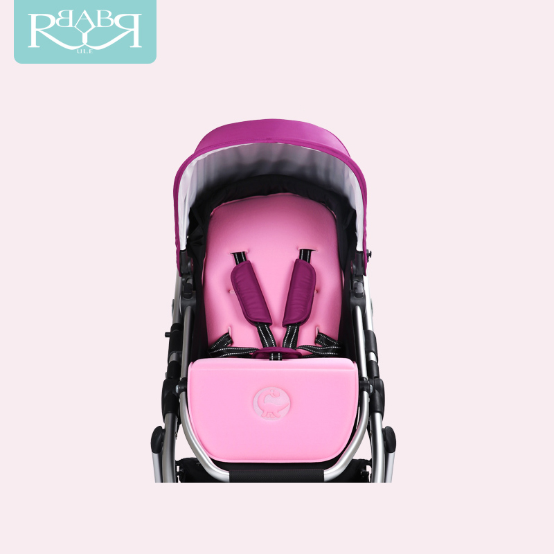 Babyruler Baby Stroller Can Sit and Lie, Light High Landscape BB carriage Folding Portable Shock Absorber, Child Cart luxury baby stroller high landscape baby carriage for newborn infant sit and lie four wheels